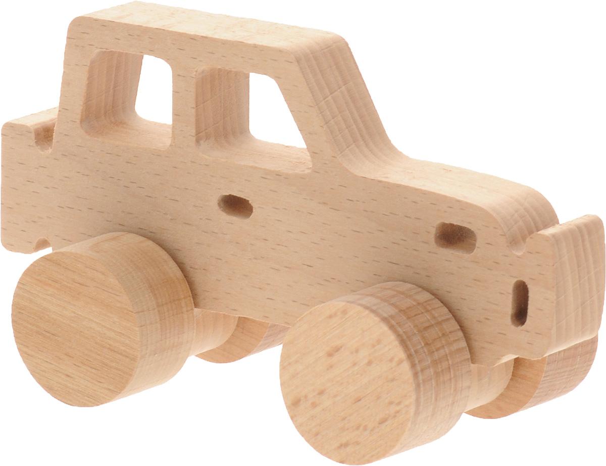 Волшебный городок Игрушка-каталка ДжипКАБДеревянная игрушка-каталка Волшебный городок Джип- без сомнения понравится вашему малышу и станет хорошим подарком для него. . Игрушка выполнена из высококачественного дерева, что абсолютно исключает вероятность травмирования. При игре с таким автомобилем у вашего малыша будут развиваться моторика рук, пространственное мышление, зрительное восприятие и внимание.