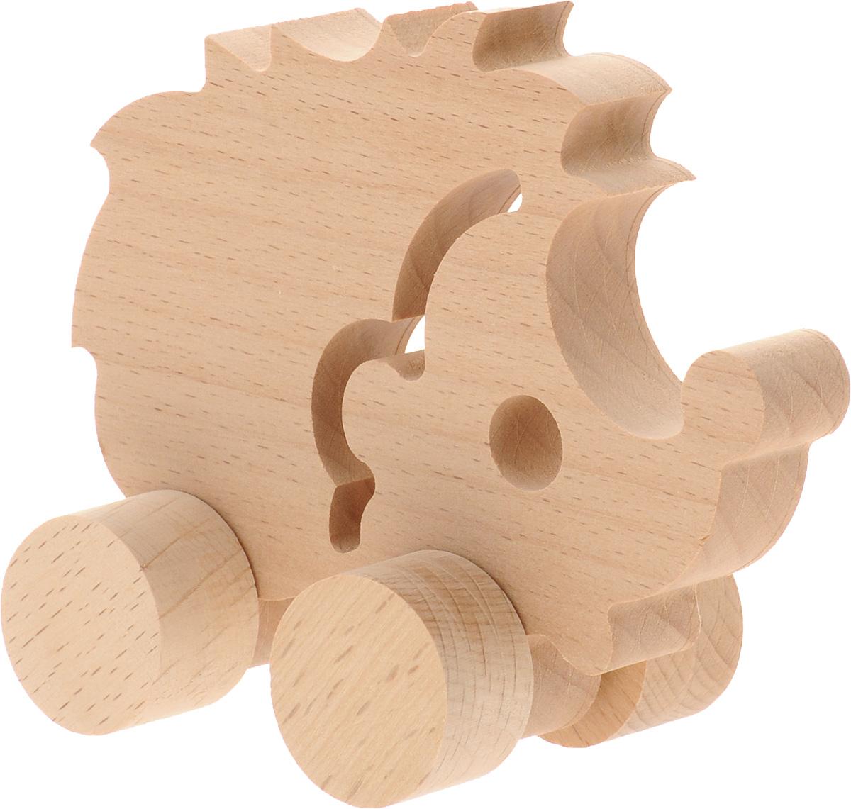 Волшебный городок Игрушка-каталка ЕжикКЁБДеревянные игрушки Волшебный городок развивают моторику ребенка, логику, пространственное мышление, зрительное восприятие и внимание малыша. Игрушка-каталка Ежик выполнена из высококачественного дерева (бука). Колеса игрушки имеют свободный ход. Игрушка-каталка непременно понравится вашему ребенку, подойдет для игры как дома, так и на свежем воздухе.