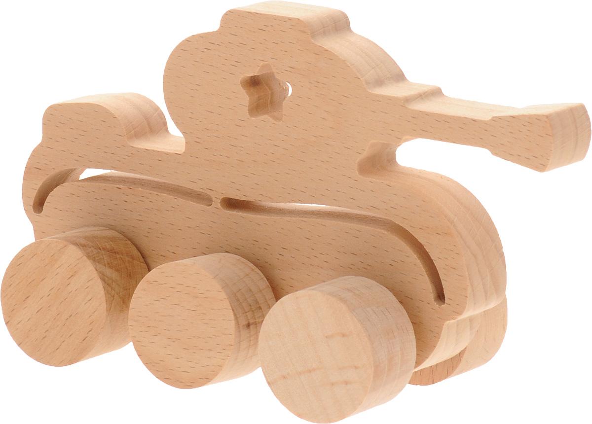 Волшебный городок Игрушка-каталка ТанкКТБДеревянная игрушка-каталка Волшебный городок Танк без сомнения понравится вашему малышу и станет хорошим подарком для него. . Игрушка выполнена из высококачественного дерева, что абсолютно исключает вероятность травмирования. При игре с таким танком у вашего малыша будут развиваться моторика рук, пространственное мышление, зрительное восприятие и внимание.