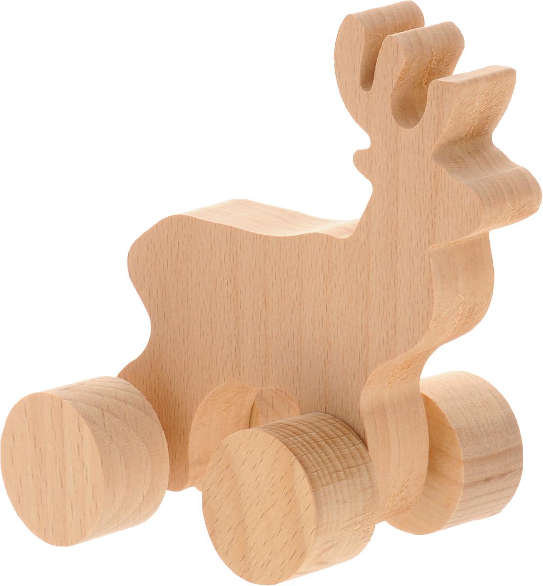 Волшебный городок Игрушка-каталка ОленьКОБДеревянная игрушка-каталка Волшебный городок Олень- без сомнения понравится вашему малышу и станет хорошим подарком для него. . Игрушка выполнена из высококачественного дерева, что абсолютно исключает вероятность травмирования. При игре с каталкой у вашего малыша будут развиваться моторика рук, пространственное мышление, зрительное восприятие и внимание.
