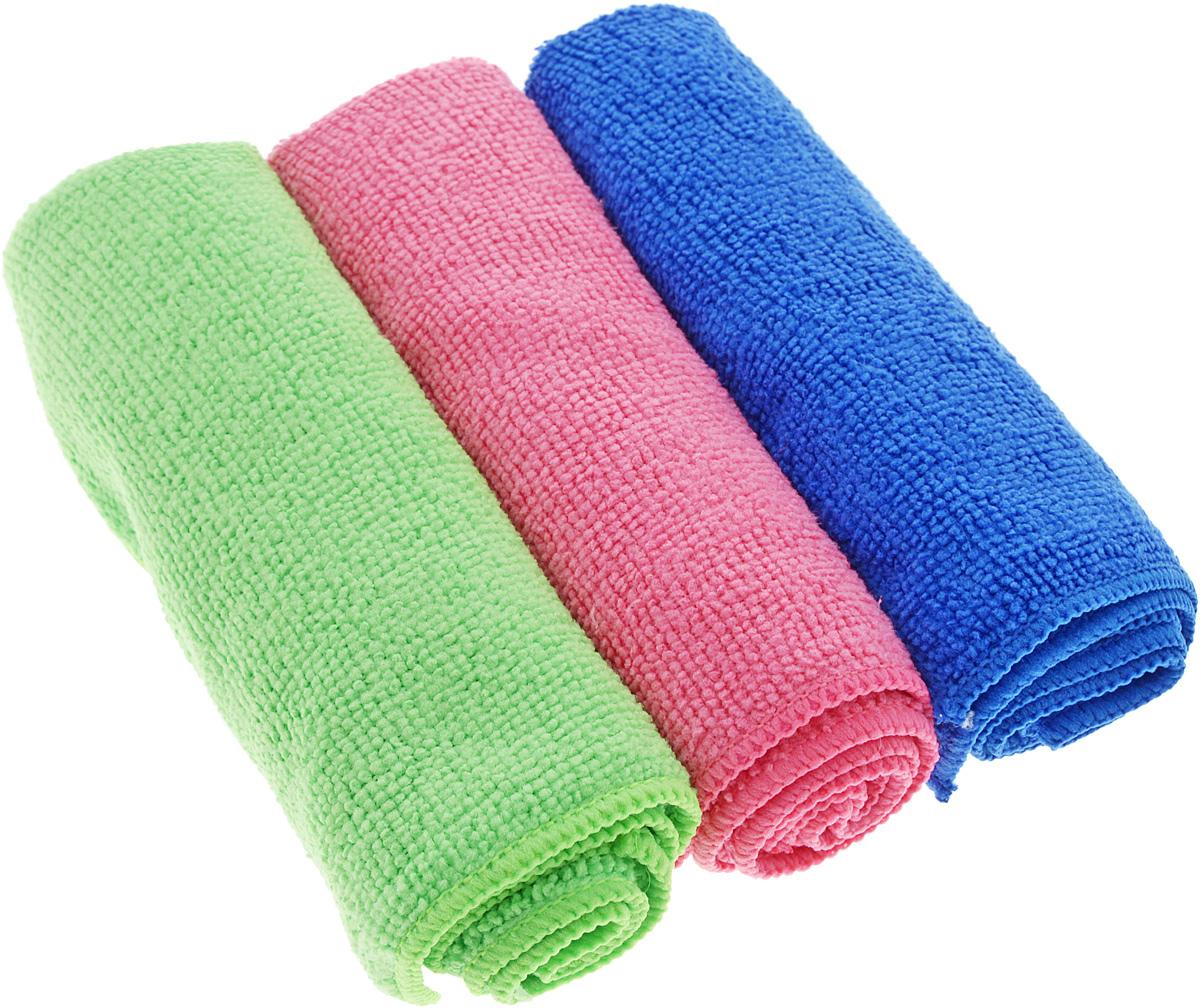 Набор салфеток для уборки Sol, из микрофибры, цвет: синий, салатовый, розовый, 30 x 30 см, 3 шт10035_розовый/синий/зелёныйНабор салфеток Sol выполнен из микрофибры. Микрофибра - это ткань из тонких микроволокон, которая эффективно очищает поверхности благодаря капиллярному эффекту между ними. Такая салфетка может использоваться как для сухой, так и для влажной уборки. Деликатно очищает любые поверхности, не оставляя следов и разводов. Идеально подходит для протирки полированной мебели. Сохраняет свои свойства после стирки. Размер салфетки: 30 х 30 см.