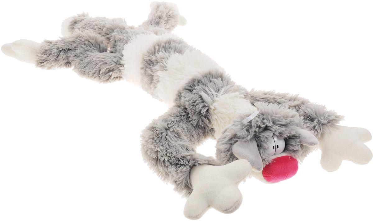 Fancy Мягкая игрушка Кот Бекон 80 смKT1Симпатичная мягкая игрушка Fancy Кот Бекон поднимет вам настроение и непременно вызовет улыбку! Он придется по душе каждому, кто возьмет его в руки и станет замечательным подарком, как ребенку, так и взрослому. Игрушка удивительно приятна на ощупь. У кота большие пластиковые глазки, розовый носик и длинное полосатое тело. Игрушка дополнена текстильной петлей для подвешивания. Изготовлена из экологически чистых материалов. Забавная игрушка развивает фантазию, моторику и тактильные ощущения малыша. Кот Бекон может стать милым подарком, а может быть и лучшим другом на все времена.