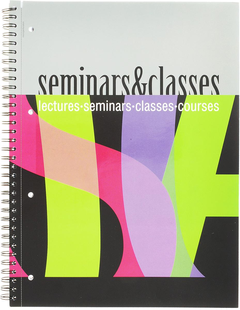 Полиграфика Тетрадь Seminar & Classes 80 листов в клетку формат А4 вид 4 полиграфика тетрадь database 96 листов в клетку цвет черный оранжевый