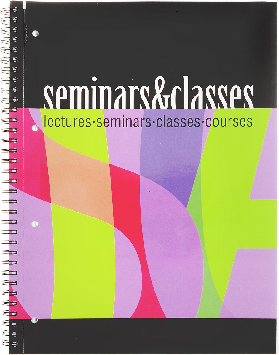 Полиграфика Тетрадь Seminar & Classes 80 листов в клетку формат А4 вид 3 полиграфика тетрадь database 96 листов в клетку цвет черный оранжевый