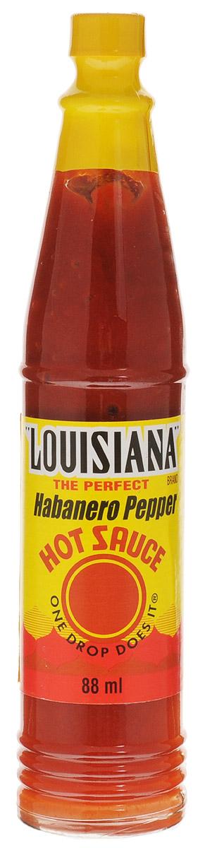 """Соус """"Louisiana Хабанеро"""" - острый перечный соус, лучшая приправа к блюдам из мяса, птицы, морепродуктов. Может использоваться как ингредиент для приготовления, маринад."""