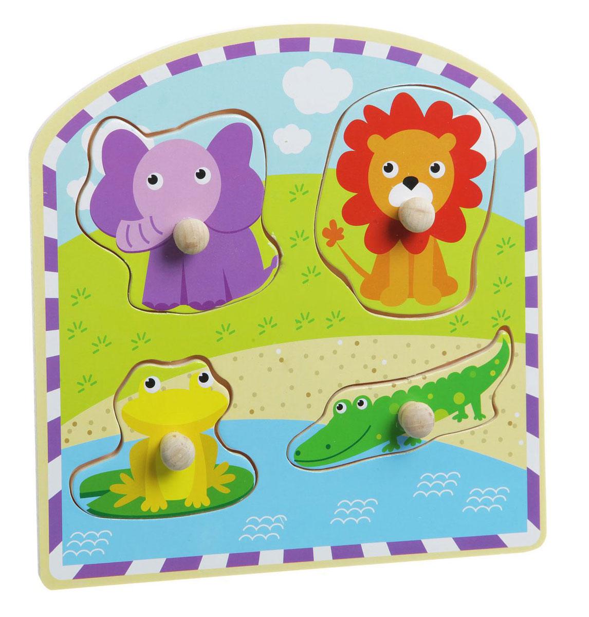 Bondibon Пазл для малышей Животные 2ВВ1496Пазл для малышей Bondibon Животные-2 является прекрасной игрушкой, предназначенной для развития мелкой моторики и воображения малышей. Пазл изготовлен из экологически чистого материала - древесины, абсолютно безопасен для маленьких детей и не токсичен. Пазл способствует развитию координации малыша, расширяет представление ребенка о предметах окружающего мира, учит выделять связи между явлениями и предметами, развивает логическое мышление. С его помощью ребенок узнает, как выглядят животные дикой природы, научится классифицировать их и отличать друг от друга. Подобная рамка-пазл станет прекрасным подарком для тех родителей, которые ценят не только интересные, но и полезные игрушки. Уважаемые клиенты! Обращаем ваше внимание на возможные варьирования в дизайне товара. Поставка возможна в зависимости от наличия на складе.