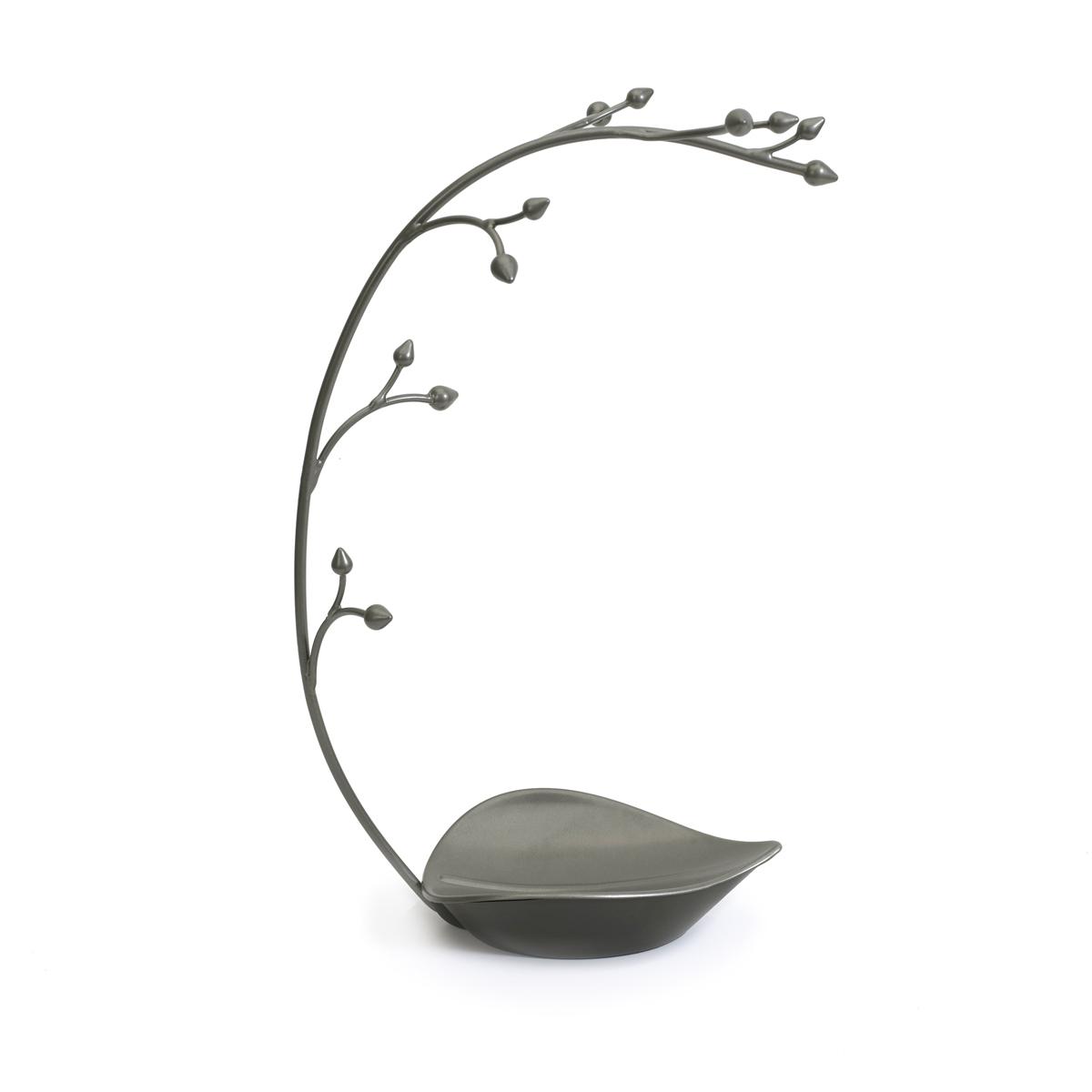 Подставка для украшений Umbra Orchid299340-296Удобная подставка для украшений - лучший способ для аккуратного хранения ваших драгоценностей. На 12 импровизированных выступов-держателей можно повесить кольца, браслеты, цепочки. Брошки, увесистые ожерелья, кулоны можно сложить в поддон у основания подставки. Цвет подставки создает впечатление бронзового напыления.