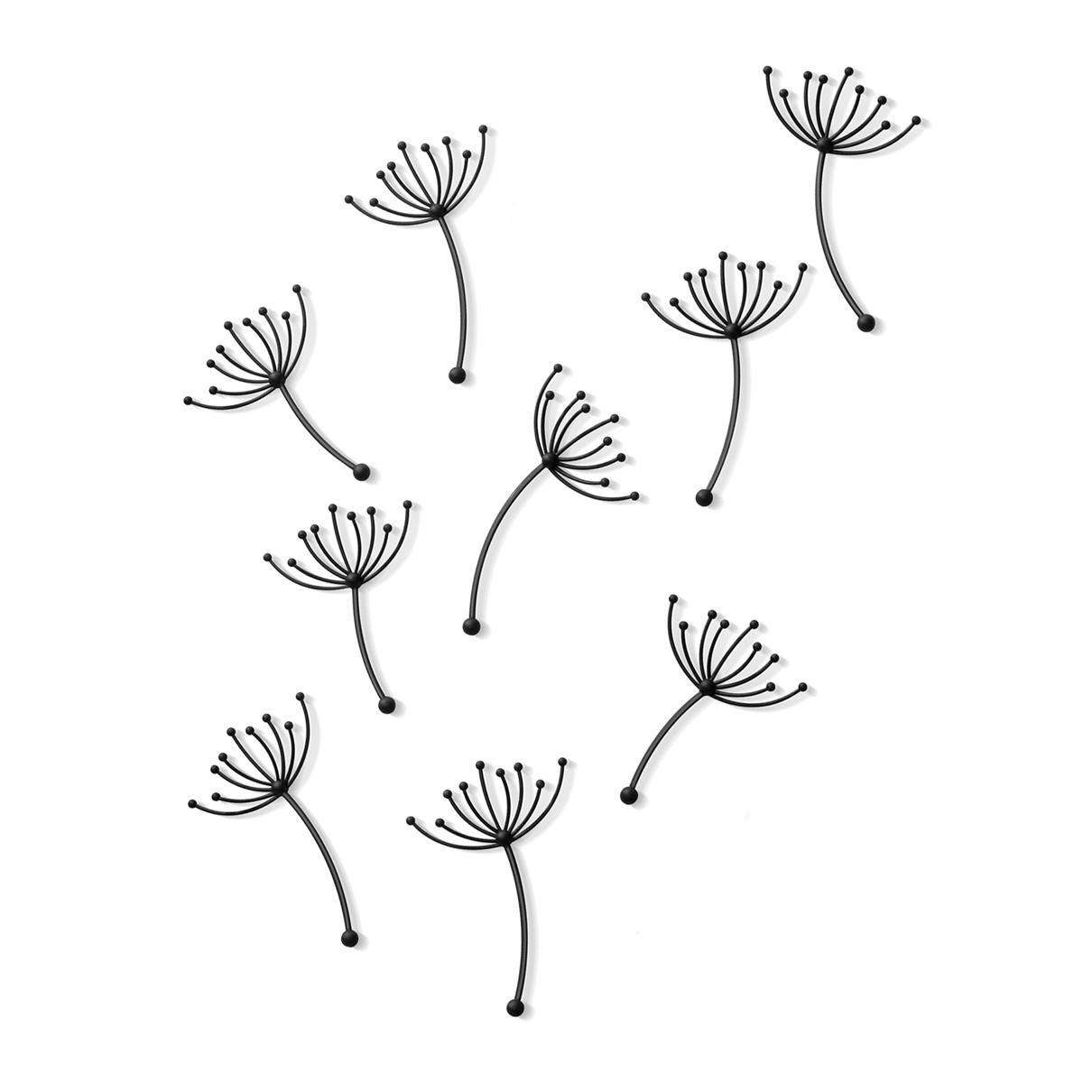 Декоративное украшение Umbra Pluff, настенное, 9 шт470140-040Важная подсказка: если вы хотите создать эффект воздушности и легкости в своей комнате, этот декор подойдет идеально. Вспомните летние деньки, как ласковый ветер сдувает белые шапки с одуванчиков и как разлетаются вокруг семена-парашютики. Уверены, именно эта картинка вдохновила дизайнеров бренда Umbra на создание этого великолепного декора. В наборе 9 элементов, которые с легкостью крепятся на двусторонний скотч (он уже приклеен на декор, остается только снять защитную пленку). Буквально за десять минут вы сможете преобразить свою спальню, кухню, ванную или гостиную, добавив утонченности и прелести даже самой скучной стене.