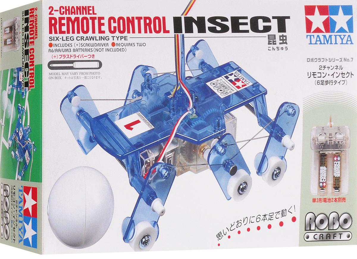 Tamiya Конструктор InsectRC8452Каждый мальчишка, увидев хитроумный механизм, пытается его разобрать, чтобы узнать, как там внутри все устроено. Серия интеллектуальных конструкторов наглядно демонстрирует взаимосвязь рычагов и механизмов в действии. Из комплекта простых деталей можно собрать сложную функциональную модель, которая будет двигаться и перемещаться, поражая окружающих своим необычным видом, замысловатой механикой и функциональной простотой. Конструктор Tamiya Insect позволяет собрать действующую модель робота-насекомого. Понять, собрать, и запустить - философия этих познавательных интеллектуальных конструкторов. Для работы механизма необходимы 2 батарейки типа АА напряжением 1,5V (не входят в комплект).