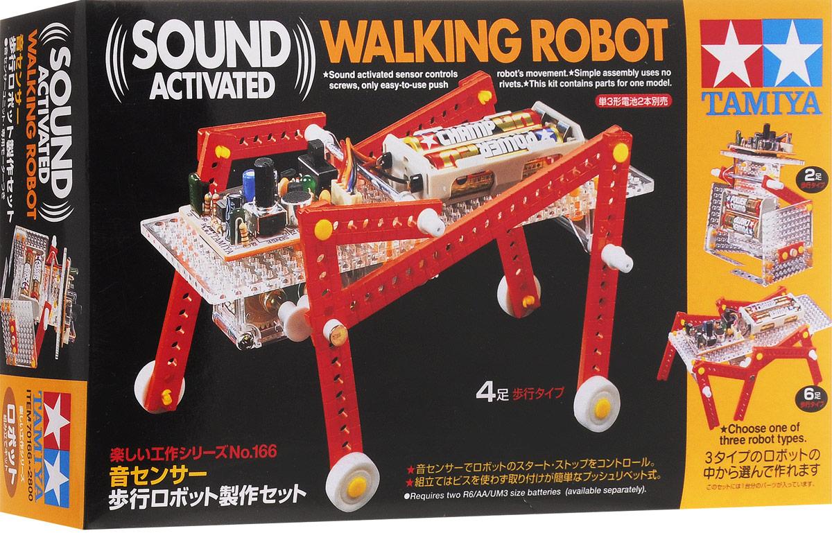 Tamiya Конструктор Walking RobotRC8438Каждый мальчишка, увидев хитроумный механизм, пытается его разобрать, чтобы узнать, как там внутри все устроено. Серия интеллектуальных конструкторов наглядно демонстрирует взаимосвязь рычагов и механизмов в действии. Из комплекта простых деталей можно собрать сложную функциональную модель, которая будет двигаться и перемещаться, поражая окружающих своим необычным видом, замысловатой механикой и функциональной простотой. Конструктор Tamiya Walking Robot позволяет собрать действующую модель шагающего робота. Понять, собрать, и запустить - философия этих познавательных интеллектуальных конструкторов. Для работы механизма необходимы 2 батарейки типа АА напряжением 1,5V (не входят в комплект).