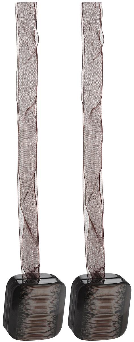 Подхват для штор TexRepublic Ajur. Lenta, на магнитах, цвет: темно-коричневый, 2 шт. 7901679016Изящный подхват для штор TexRepublic Ajur. Lenta, выполненный из пластика и текстиля, можно использовать как держатель для штор или для формирования декоративных складок на ткани. С его помощью можно зафиксировать шторы или скрепить их, придать им требуемое положение, сделать симметричные складки. Благодаря магнитам подхват легко надевается и снимается. Подхват для штор является универсальным изделием, которое превосходно подойдет для любых видов штор. Подхваты придадут шторам восхитительный, стильный внешний вид и добавят уют в интерьер помещения. Длина подхвата: 39 см. Количество: 2 шт.