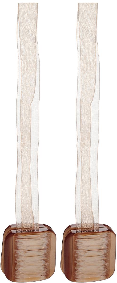 Подхват для штор TexRepublic Ajur. Lenta, на магнитах, цвет: бежевый, 2 шт. 7901579015Изящный подхват для штор TexRepublic Ajur. Lenta, выполненный из пластика и текстиля, можно использовать как держатель для штор или для формирования декоративных складок на ткани. С его помощью можно зафиксировать шторы или скрепить их, придать им требуемое положение, сделать симметричные складки. Благодаря магнитам подхват легко надевается и снимается. Подхват для штор является универсальным изделием, которое превосходно подойдет для любых видов штор. Подхваты придадут шторам восхитительный, стильный внешний вид и добавят уют в интерьер помещения. Длина подхвата: 36 см. Количество: 2 шт.