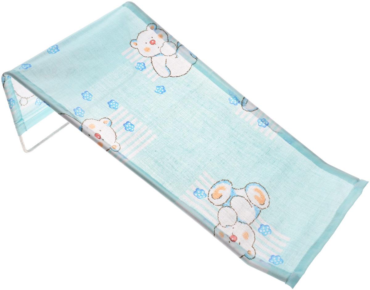 Фея Подставка для купания Мишки цвет голубой0001332-01_голубойПодставка для купания Фея Мишки - это удобный способ мытья и прекрасная возможность побаловать вашего малыша. Эргономичный дизайн подставки разработан специально для комфорта и безопасности вашего ребенка. Основу подставки составляет металлический каркас, обтянутый сверху тканью. Подарите своему малышу радость и комфорт во время купания! Подходит для купания детей до 1 года.