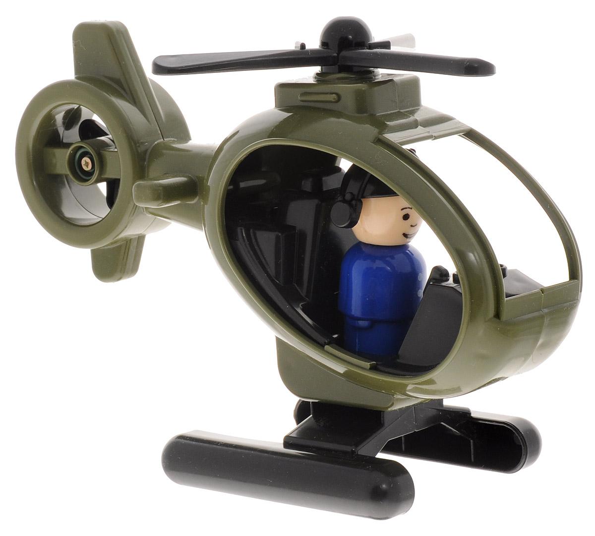 Форма Вертолет Детский сад цвет хакиС-122-Ф_коричневыйВертолет Форма Детский сад - это яркая игрушка, сделанная из качественного материала. Основной и хвостовой пропеллеры вращаются. В комплекте с вертолетом идет фигурка пилота. Фигурку можно вынуть из вертолета и играть с ней отдельно. Интересная форма и движущиеся элементы принесут массу радостных эмоций малышку!