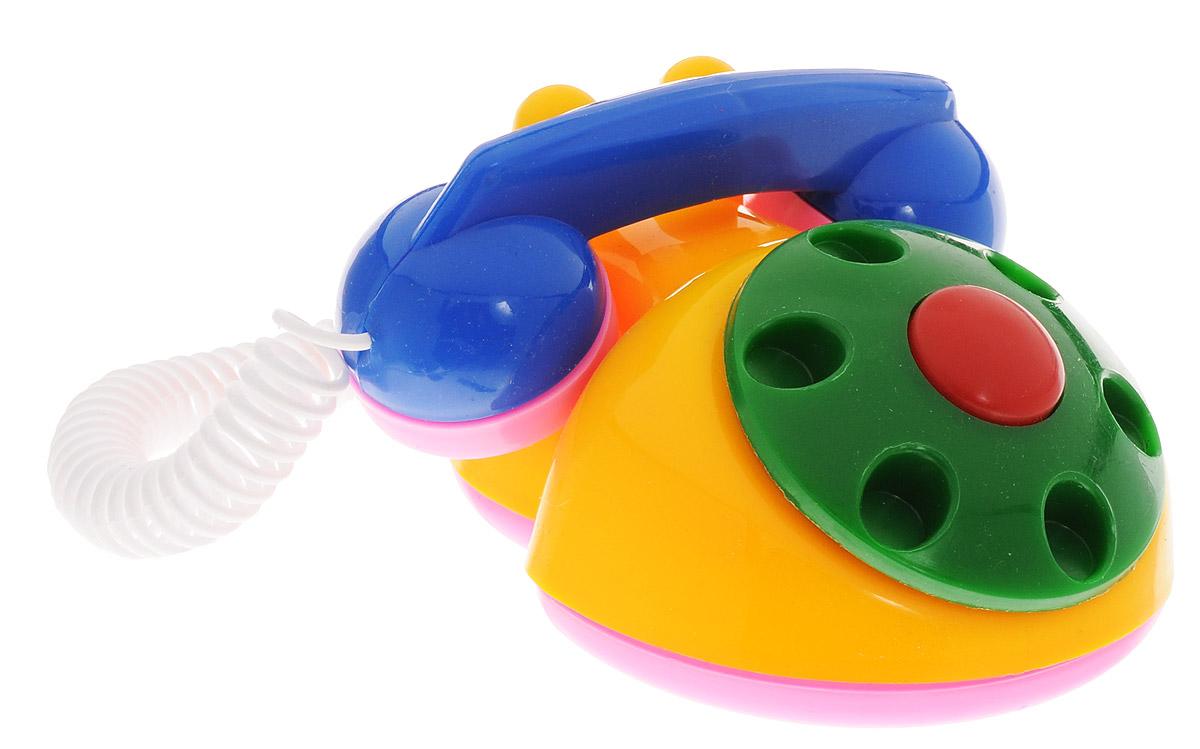 Аэлита Детский телефон цвет желтый синий2С454_желтый, синийЯркий детский телефон Аэлита не оставит вашего малыша равнодушным и не позволит ему скучать! Игрушка представляет собой старинный дисковой аппарат с пружинным проводом, идущим к трубке. Небольшая трубка очень удобна для детских рук по размерам, диск крутится, пружинный провод легко растягивается и собирается обратно. Яркие цвета игрушки направлены на развитие мыслительной деятельности, цветовосприятия, тактильных ощущений и мелкой моторики рук ребенка, а элемент набора номера на телефоне способствует развитию слуха.