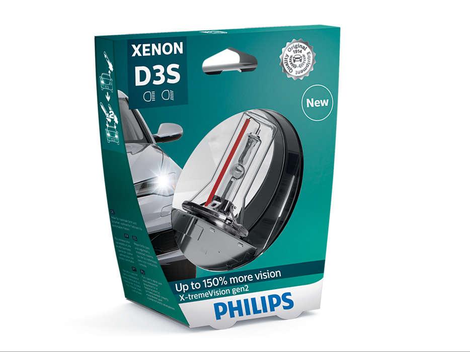Лампа автомобильная ксеноновая Philips X-tremeVision gen2, цоколь D3S, 35 Вт. 42403 XV2S142403 XV2S1X-tremeVision gen2 — последняя разработка в области ксеноновых ламп. Световое излучение этой лампы доведено до предела, и она обеспечивает самый мощный луч. Это позволяет получить исключительные характеристики освещения и уникальную организацию света для оптимального комфорта вождения. Оптимальные характеристики освещения Улучшение видимости до 150%* Максимальная безопасность и видимость Предназначены для взыскательных водителей