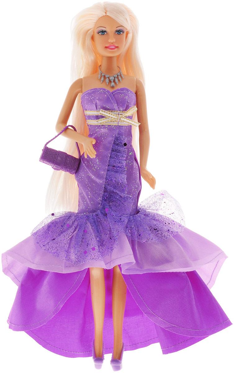 Defa Кукла Lucy в вечернем платье цвет сиреневый8240d_сиреневыйКукла Defa Lucy обязательно понравится любой девочке и позволит ей погрузиться в сказочный мир волшебства. Очаровательная куколка одета в шикарное вечернее платье с оборками и подолом разной длины. На ногах у Люси - сиреневые туфельки на каблуках. Дополняют нарядный образ оригинальное колье и маленькая сумочка темно-сиреневого цвета. Вашей дочурке непременно понравится расчесывать и заплетать длинные светлые волосы куклы. Руки, ноги и голова куклы подвижны, благодаря чему ей можно придавать различные позы. Благодаря играм с куклой ваша малышка сможет развить фантазию и любознательность, овладеть навыками общения и научиться ответственности.