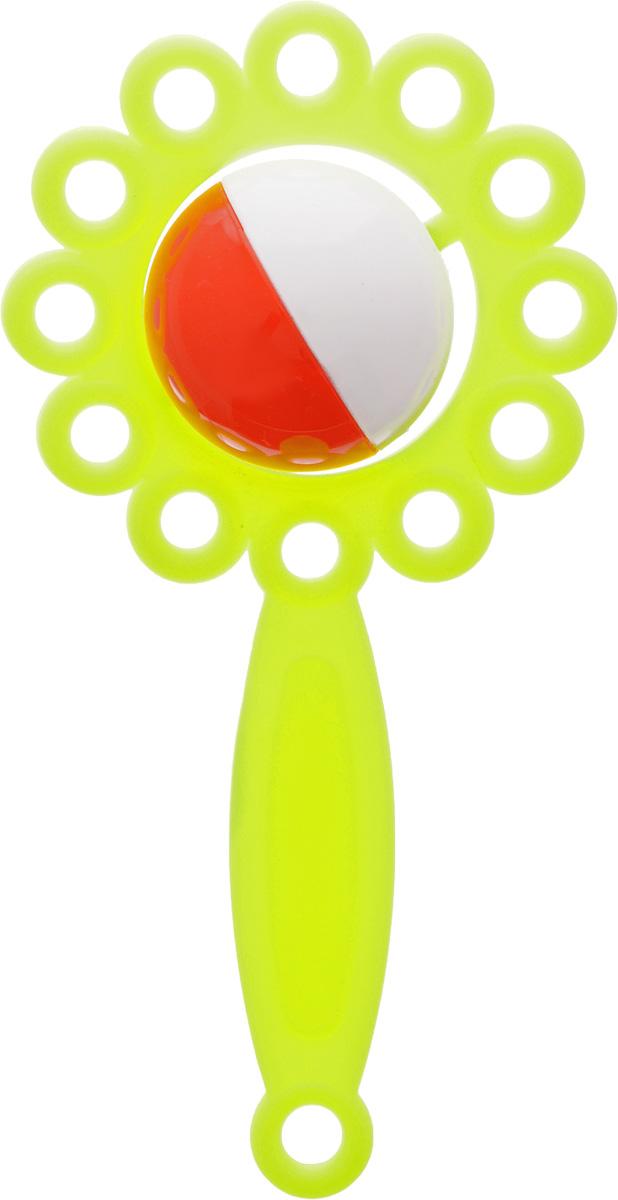 Аэлита Погремушка Ромашка цвет лимонный2С271_лимонныйЯркая погремушка Аэлита Ромашка не оставит вашего малыша равнодушным и не позволит ему скучать! Игрушка представляет собой коралловый цветочек, внутри которого расположен небольшой шарик, выполняющий роль погремушки. Удобная форма ручки погремушки позволит малышу с легкостью взять и держать ее. Яркие цвета игрушки направлены на развитие мыслительной деятельности, цветового восприятия, тактильных ощущений и мелкой моторики рук ребенка, а элемент погремушки способствует развитию слуха.