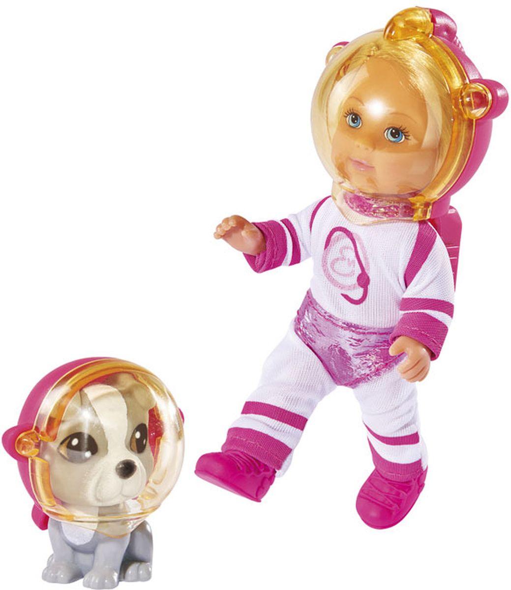Simba Мини-кукла Еви с собачкой Космонавты5736255Кукла Simba Еви с собачкой. Космонавты порадует любую девочку и надолго увлечет ее. В комплект входит куколка Еви и ее питомец, который готов отправиться вместе с хозяйкой в космическое путешествие. Малышка Еви одета в белый комбинезон с розовыми вставками, на ногах у нее - розовые сапожки. Еви и ее питомец в круглых прозрачных шлемах для выхода в открытый космос. Руки, ноги и голова куклы подвижны, благодаря чему ей можно придавать разнообразные позы. Игры с куклой способствуют эмоциональному развитию, помогают формировать воображение и художественный вкус, а также разовьют в вашей малышке чувство ответственности и заботы. Великолепное качество исполнения делают эту куколку чудесным подарком к любому празднику.