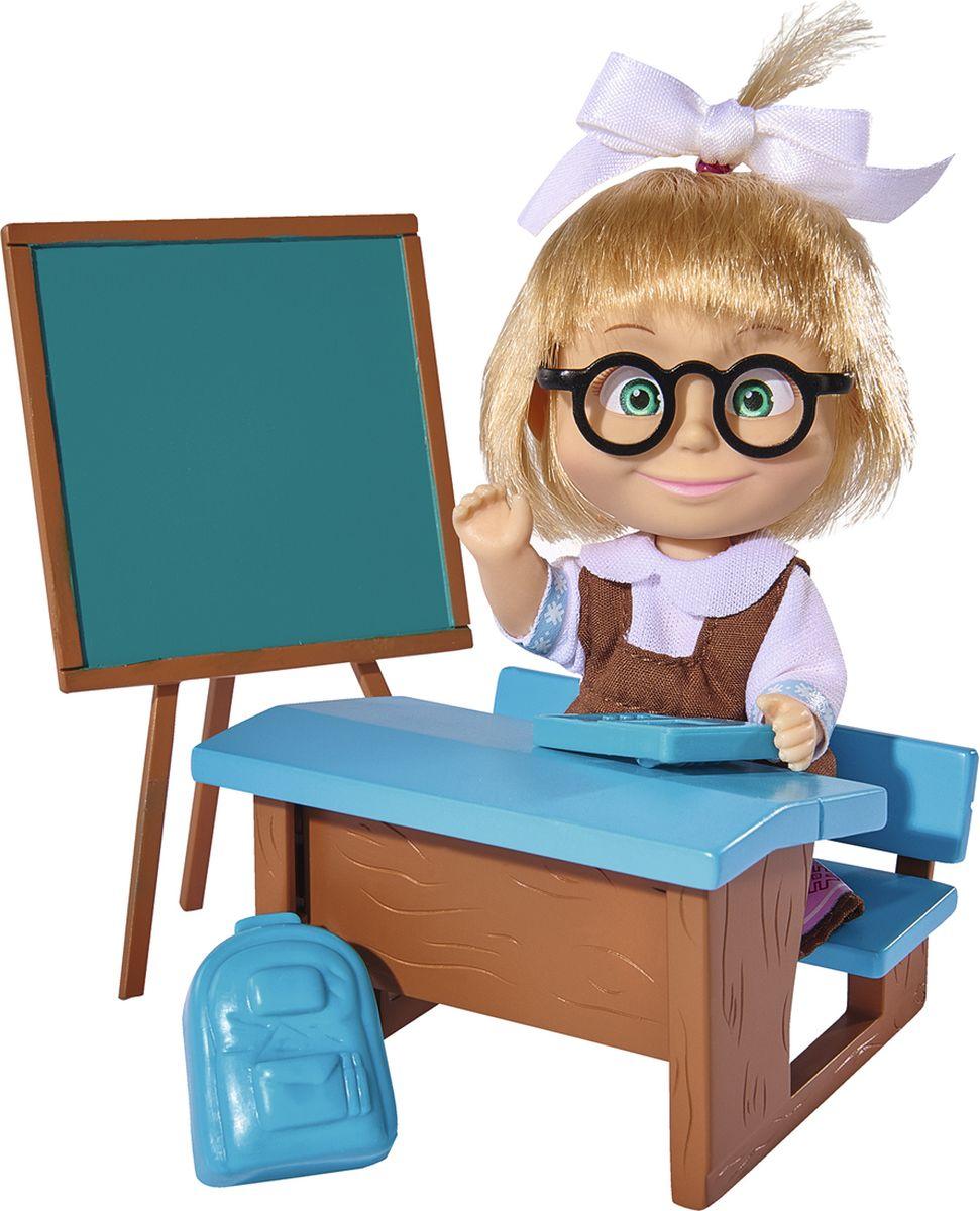 Simba Кукла Маша в школьной форме с аксессуарами, 12 см9301944Кукла Маша - это забавная кукла от компании Simba, одетая в классическую школьную форму. Также, в комплекте с данной игрушкой имеется калькулятор, парта, игрушечный ноутбук и набор школьных принадлежностей. Такая кукла поможет разнообразить игры ребенка. И конечно же, он наверняка будет рад встрече со знакомой мультипликационной героиней.