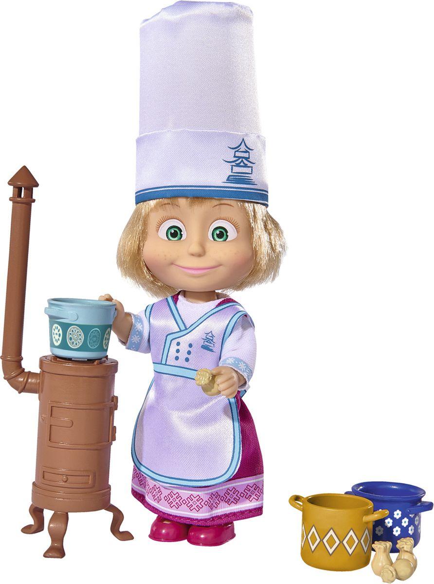 Simba Игровой набор Маша в одежде повара9301987, 109301987029Игровой набор Simba Маша в одежде повара порадует любую девочку и надолго увлечет ее. В комплект входит куколка Маша, круглая печь, кастрюльки и игрушечные пельмени. В этот раз выдумщица Маша решила попробовать себя в роли профессионального повара. Для этого на ней фартук и колпак, ведь нужно соответствовать образу. Используя различные аксессуары, она сможет приготовить что-нибудь поразительное, что никого не оставит равнодушным. Руки, ноги и голова куклы подвижны, благодаря чему ей можно придавать разнообразные позы. Игры с куклой способствуют эмоциональному развитию, помогают формировать воображение и художественный вкус, а также разовьют в вашей малышке чувство ответственности и заботы. Великолепное качество исполнения делают эту куколку чудесным подарком к любому празднику.