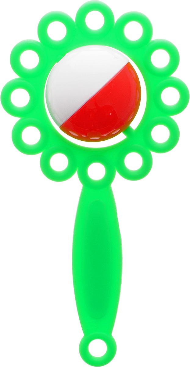 Аэлита Погремушка Ромашка цвет салатовый2С271_салатовыйЯркая погремушка Аэлита Ромашка не оставит вашего малыша равнодушным и не позволит ему скучать! Игрушка представляет собой коралловый цветочек, внутри которого расположен небольшой бело-зеленый шарик, выполняющий роль погремушки. Удобная форма ручки погремушки позволит малышу с легкостью взять и держать ее. Яркие цвета игрушки направлены на развитие мыслительной деятельности, цветового восприятия, тактильных ощущений и мелкой моторики рук ребенка, а элемент погремушки способствует развитию слуха.