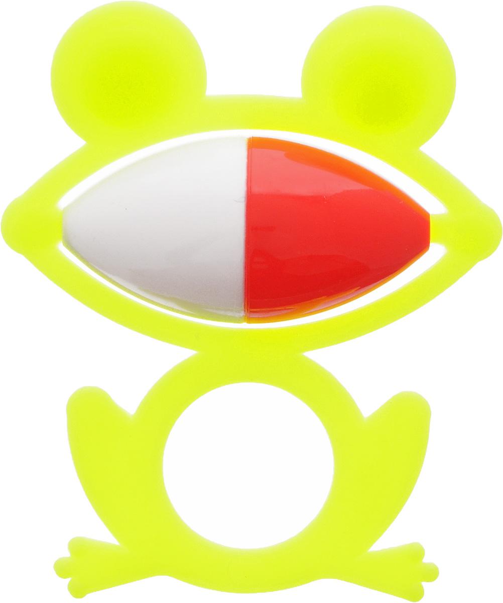Аэлита Погремушка Лягушонок цвет лимонный2С270_лимонныйЯркая погремушка Аэлита Лягушонок не оставит вашего малыша равнодушным и не позволит ему скучать! Игрушка представляет собой силуэт лягушки, внутри которого расположен небольшой шарик, выполняющий роль погремушки. Удобная форма игрушки позволит малышу с легкостью взять и держать ее. Яркие цвета игрушки направлены на развитие мыслительной деятельности, цветового восприятия, тактильных ощущений и мелкой моторики рук ребенка, а элемент погремушки способствует развитию слуха.