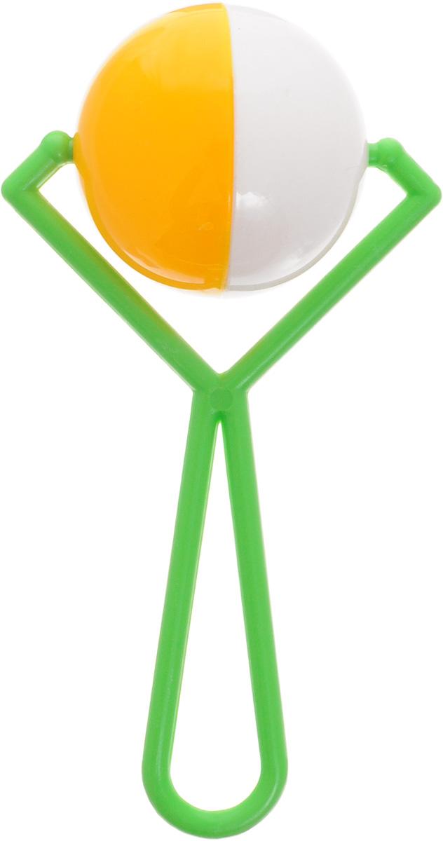 Аэлита Погремушка Вертушка цвет белый желтый2С264_белый, желтыйЯркая погремушка Аэлита Вертушка не оставит вашего малыша равнодушным и не позволит ему скучать! В центре расположен шарик, выполняющий роль погремушки. Удобная форма игрушки позволит малышу с легкостью взять и держать ее. Яркие цвета игрушки направлены на развитие мыслительной деятельности, цветового восприятия, тактильных ощущений и мелкой моторики рук ребенка, а элемент погремушки способствует развитию слуха.