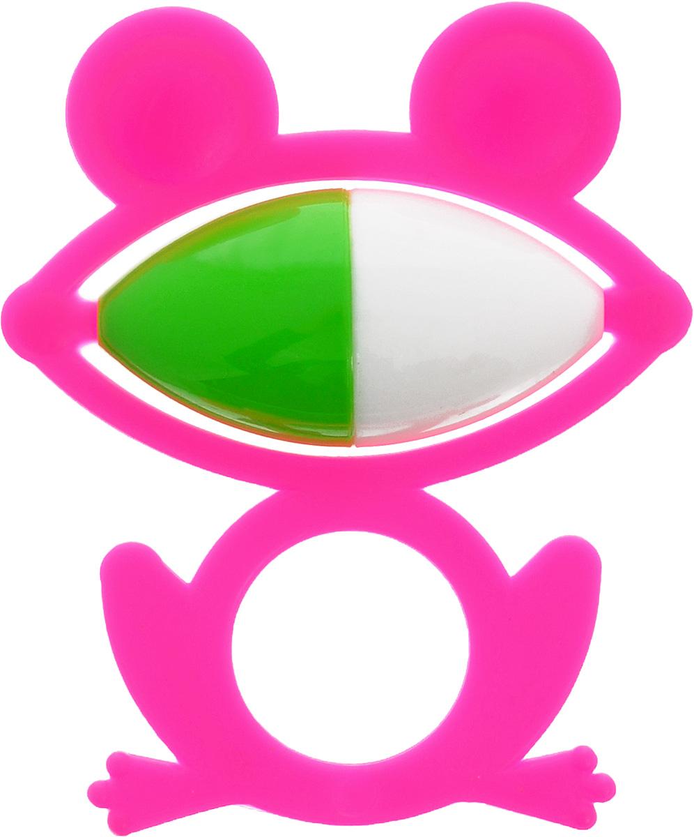 Аэлита Погремушка Лягушонок цвет фуксия2С270_фуксияЯркая погремушка Аэлита Лягушонок не оставит вашего малыша равнодушным и не позволит ему скучать! Игрушка представляет собой силуэт лягушки, внутри которого расположен небольшой шарик, выполняющий роль погремушки. Удобная форма игрушки позволит малышу с легкостью взять и держать ее. Яркие цвета игрушки направлены на развитие мыслительной деятельности, цветового восприятия, тактильных ощущений и мелкой моторики рук ребенка, а элемент погремушки способствует развитию слуха.
