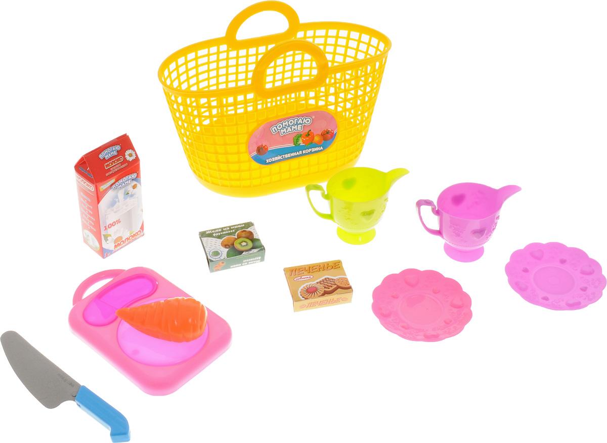 ABtoys Набор посуды для кухни в корзине цвет желтыйPT-00336_желтыйНабор посуды для кухни ABtoys подойдет как для использования на игрушечной кухне дома, как и послужит замечательным набором для игры на улице и пикника для кукол. В комплект входит корзинка, 2 бокала, 2 блюдца, нож, разделочная доска, морковь, коробка молока, коробка печенья, коробка желе.