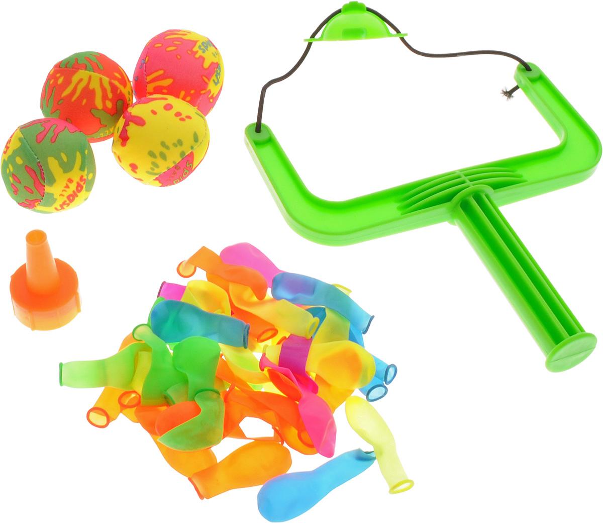 YG Sport Игровой набор Водяные бомбочки цвет зеленыйYG16YИгровой набор YG Sport Водяные бомбочки станет любимым развлечением детишек на природе, а для быстрого наполнения и метания чудо-бомбочек в комплекте предусмотрены аксессуары. Подготовить чудо-бомбочку довольно просто: наполнить шарик водой, используя воронку, завязать и выстрелить из рогатки в выбранную мишень. С помощью этого игрового набора можно разнообразить пляжный отдых или же освежиться, играя на даче или пикнике. Новое игровое приобретение настроит деток на положительный эмоциональный фон и благоприятно воздействует на развитие меткости и ловкости. Все элементы набора выполнены из качественных и гипоаллергенных материалов, абсолютно безопасных для детской игры.