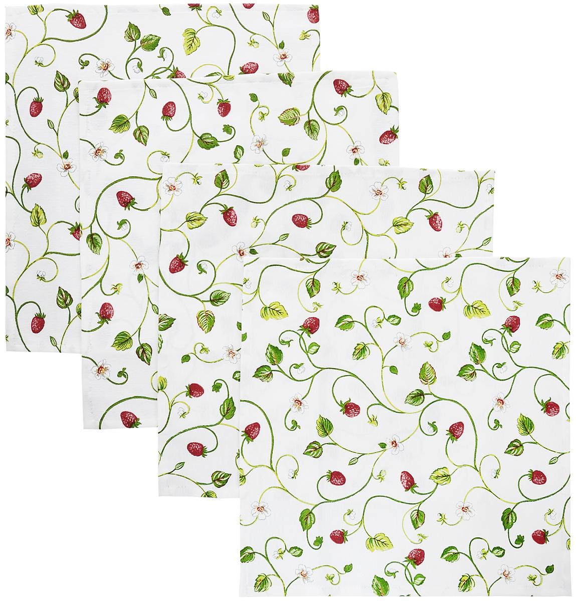 Набор сервировочных салфеток Kauffort Флора, 32 x 32 см, 4 шт3132098532Набор Kauffort Флора, изготовленный из 75% хлопка и 25% полиэстера, состоит из четырех сервировочных салфеток. Изделия имеют оригинальный дизайн. Салфетки защищают поверхность стола от воздействия температур, влаги и загрязнений, а также украшают интерьер. Размер салфетки: 32 х 32 см.