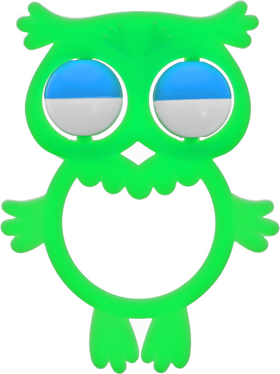 Аэлита Погремушка Совенок цвет салатовый2С384_салатовыйЯркая погремушка Аэлита Совенок не оставит вашего малыша равнодушным и не позволит ему скучать! Игрушка представляет собой силуэт птички, внутри которого расположены два небольших шарика, выполняющие роль погремушки. Удобная форма погремушки позволит малышу с легкостью взять и держать ее. Яркие цвета игрушки направлены на развитие мыслительной деятельности, цветового восприятия, тактильных ощущений и мелкой моторики рук ребенка, а элемент погремушки способствует развитию слуха.