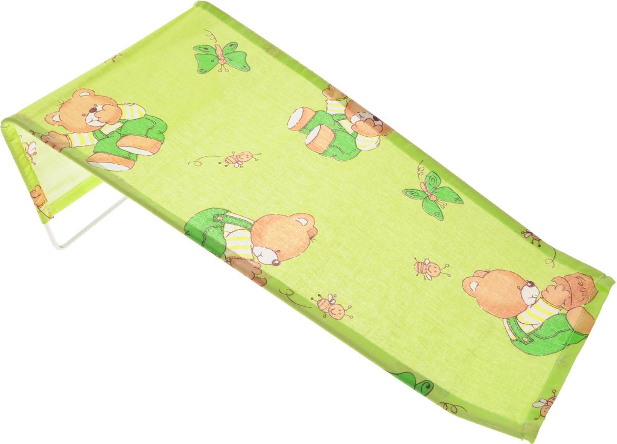 Фея Подставка для купания Мишки и пчелки0001332-01_салатовый/мишки/пчёлкиПодставка для купания Фея Мишки и пчелки - это удобный способ мытья и прекрасная возможность побаловать вашего малыша. Эргономичный дизайн подставки разработан специально для комфорта и безопасности вашего ребенка. Основу подставки составляет металлический каркас, обтянутый тканью. Подарите своему малышу радость и комфорт во время купания! Подставка предназначена для купания детей в возрасте до 1 года. Фея - это качественные и надежные товары для малышей, которые может позволить себе каждая семья! Правила ухода за чехлом: после использования хорошо просушить. Запрещается использование моющих средств, содержащих щелочь.
