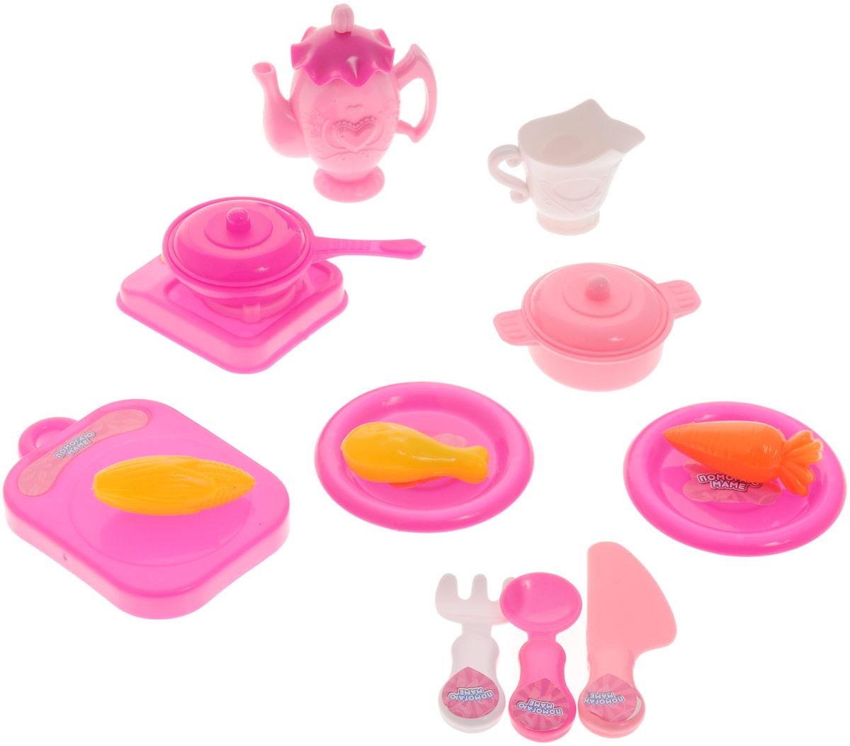 ABtoys Игрушечный набор посуды 15 предметовPT-00402Игрушечный набор посуды ABtoys просто незаменим в кукольном домике. Яркий и современный дизайн посуды делает ее привлекательной и стильной. В набор входят: столовые приборы, муляжи продуктов, плита и другие аксессуары. Посуда будет прекрасно смотреться на кукольной кухне и будет незаменима во время приготовления еды для кукол. Все элементы набора выполнены из качественных и безопасных материалов. Игровые наборы из серии Помогаю Маме развивают фантазию, расширяют кругозор ребенка и помогают развить хозяйственные навыки. Набор упакован в красивую прозрачную банку с крышкой.