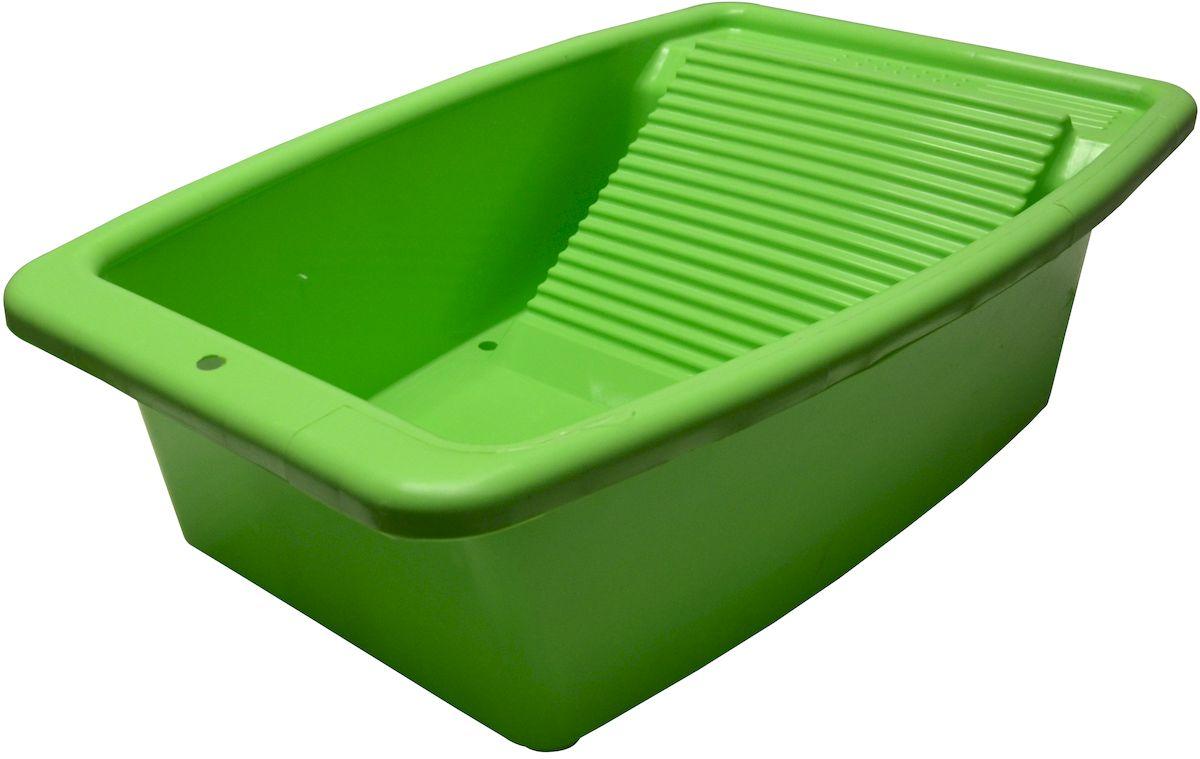 Таз со стиральной доской Коллекция, цвет: зеленый, 34 лATP-42Таз со стиральной доской