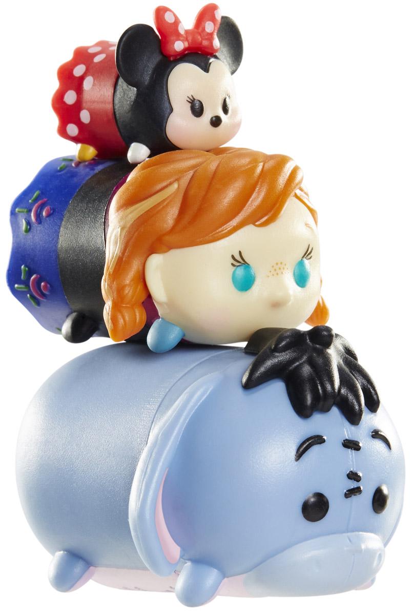 Tsum Tsum Набор фигурок Минни Анна Ослик980080_104/174/157Tsum Tsum - это небольшие коллекционные фигурки, изображающие различных персонажей детских мультфильмов Дисней. Они очень яркие, качественно выполнены и выглядят весьма привлекательно. В набор входят 3 фигурки разных размеров. Отличительной особенностью игрушек является то, что их можно сцеплять друг с другом, усаживая на спины - таким образом, у вас получится подобие оригинальной башенки. Соберите целую коллекцию фигурок! В наборе фигурки под номерами 104, 174, 157.