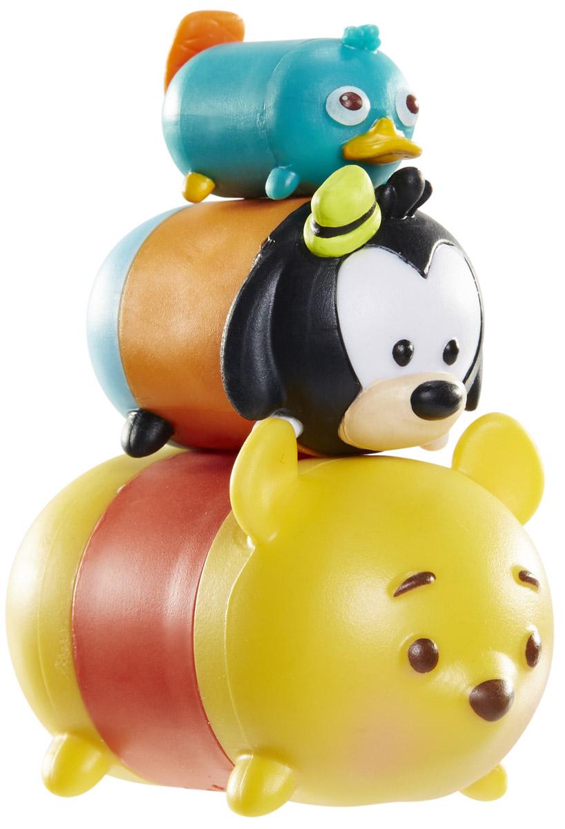Tsum Tsum Набор фигурок Утконос Перри Гуфи Винни-Пух980080_167/108/148Tsum Tsum - это небольшие коллекционные фигурки, изображающие различных персонажей детских мультфильмов Дисней. Они очень яркие, качественно сделаны и выглядят весьма привлекательно. В набор входят 3 фигурки разных размеров. Отличительной особенностью игрушек является то, что их можно сцеплять друг с другом, усаживая на спины - таким образом, у вас получится подобие оригинальной башенки. Соберите целую коллекцию фигурок! В наборе фигурки под номерами 167, 108, 148.