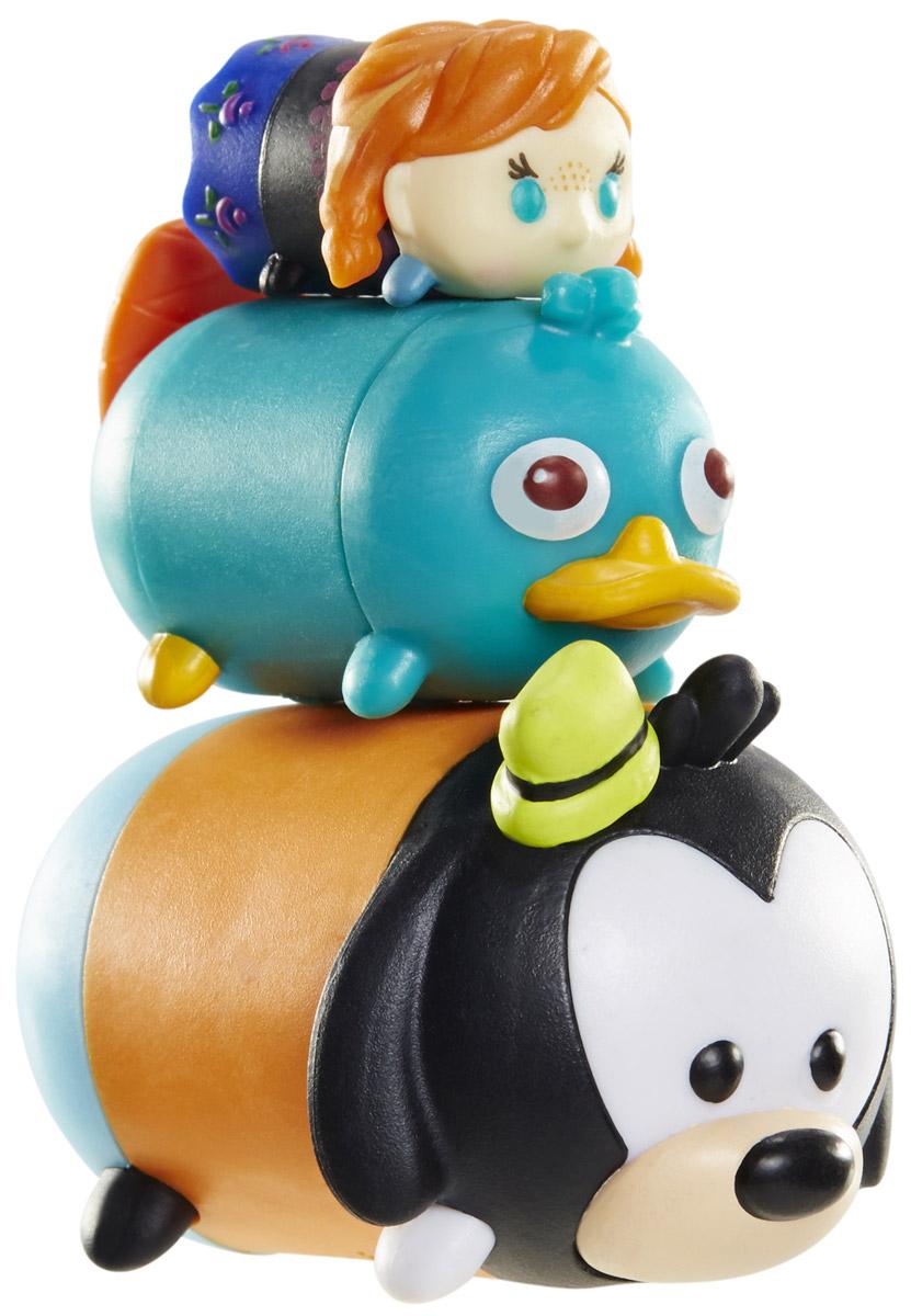 Tsum Tsum Набор фигурок Принцесса Анна Утконос Перри Гуфи980080_173/168/109Tsum Tsum - это небольшие коллекционные фигурки, изображающие различных персонажей детских мультфильмов Дисней. Они очень яркие, качественно сделаны и выглядят весьма привлекательно. В набор входят 3 фигурки разных размеров. Отличительной особенностью игрушек является то, что их можно сцеплять друг с другом, усаживая на спины - таким образом, у вас получится подобие оригинальной башенки. Соберите целую коллекцию фигурок! В наборе фигурки под номерами 173, 168, 109.