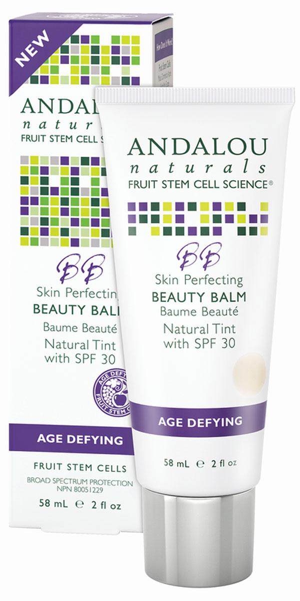 ANDALOU Выравнивающий бальзам для лица SPF 30 (саморегулирующий оттенок) Антивозрастная коллекция,58 мл25187Для сухой, очень сухой и чувствительной кожи. Первый омолаживающий BB бальзам с фруктовыми стволовыми клетками - это многофункциональное совершенное лечение кожи, содержит антиоксиданты, растительные увлажняющие компоненты и SPF 30 фильтры для защиты кожи. Масло Шиповника увлажняет, регенерирует, разглаживает, подтягивает и защищает клетки вашей кожи. Саморегулирующийся минеральный оттенок. Красивое, легкое покрытие. Не содеожит нанночастиц.