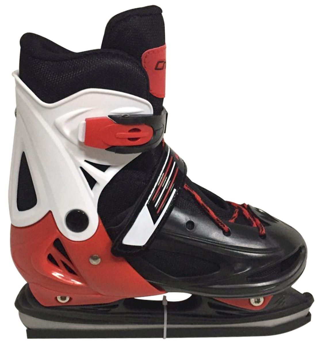 Коньки раздвижные Ice Blade Charlie, цвет: черный, красный, белый. УТ-00009120. Размер M (34/37)