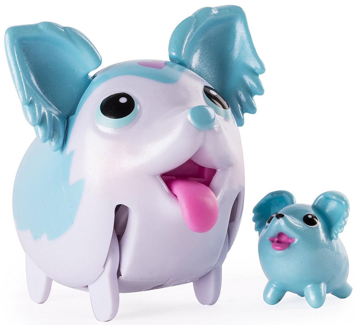 Chubby Puppies Набор фигурок Той-спаниель56700_20075406Набор фигурок Chubby Puppies Той-спаниель - это функциональная фигурка забавной собачки и её миниатюрная копия, которые наверняка понравятся вашему ребенку. Собачка умеет забавно передвигаться, шагая вразвалку, благодаря чему игра с ней становится еще более интересной и увлекательной. Фигурка не только ходит, но и смешно прыгает! Язык, хвостик и ушки у собачки подвижные. Набор предназначен для увлекательной сюжетно-ролевой игры и выглядит очень ярко и эффектно. Набор выполнен из качественного пластика и совершенно безопасен для здоровья вашего ребенка. Порадуйте вашего малыша таким замечательным подарком! Для работы требуется 1 батарейка напряжением 1,5 V типа ААА (входит в комплект).