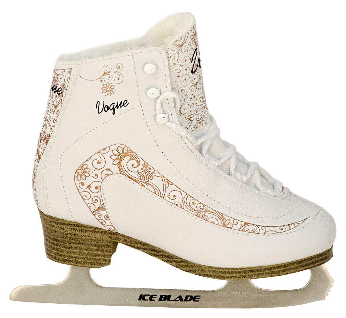Коньки фигурные Ice Blade Vogue, цвет: белый, золотой. УТ-00006871. Размер 33