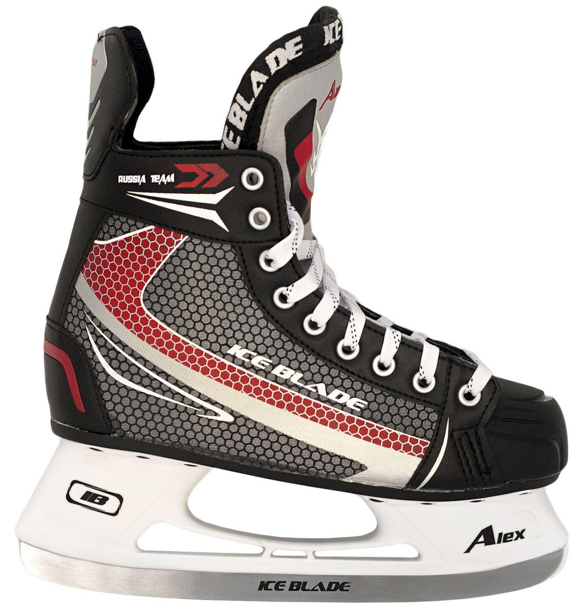 Коньки хоккейные Ice Blade Alex New, цвет: черный, красный, серый. УТ-00006868. Размер 46