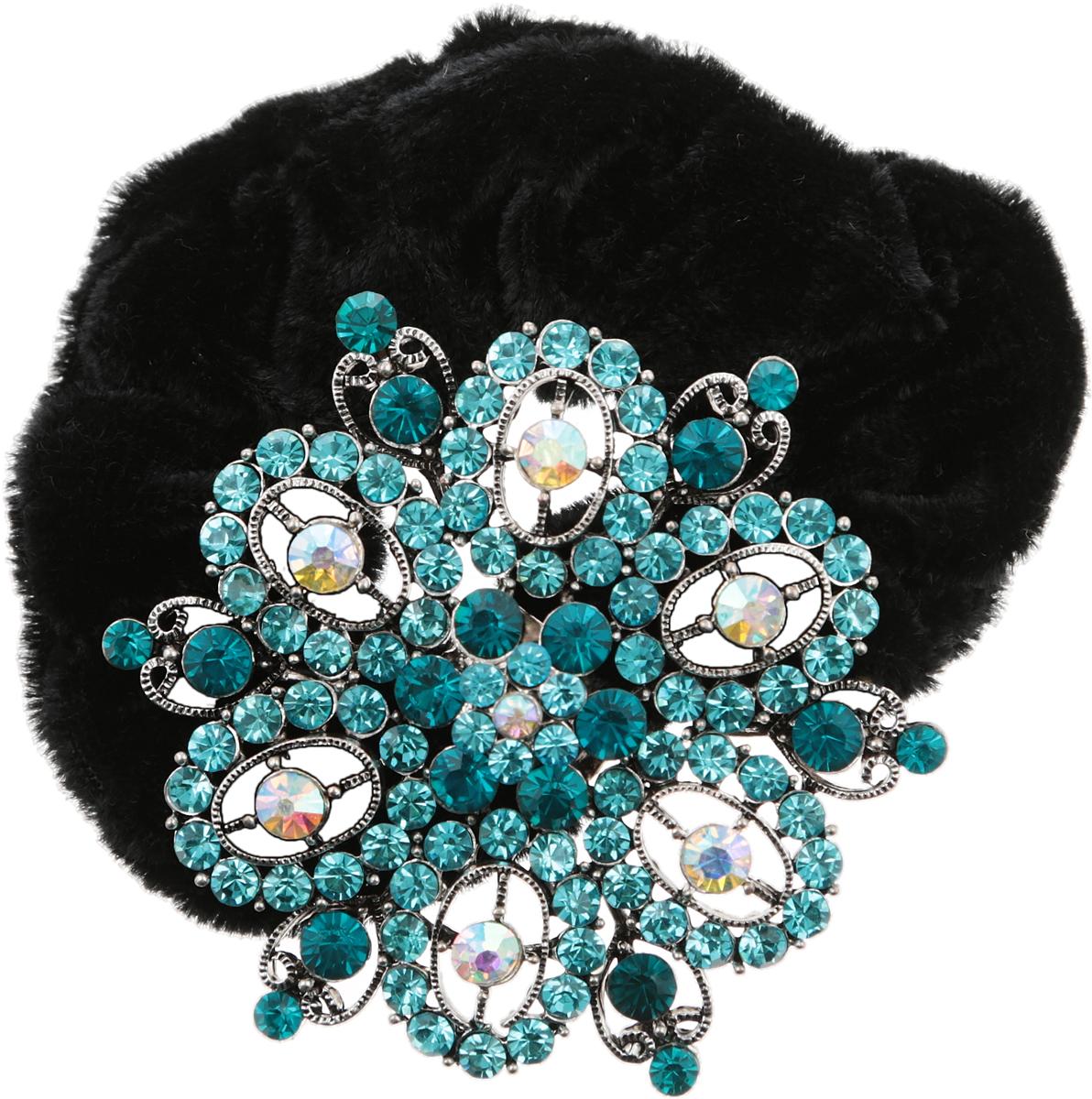 Резинка для волос от D.Mari. Велюр, кристаллы Aurora Borealis, голубые кристаллы, бижутерный сплав серебряного тона. Гонконг1705-WHITE-DAMРезинка для волос от D.Mari. Велюр, кристаллы Aurora Borealis, голубые кристаллы, бижутерный сплав серебряного тона. Гонконг. Размер - резинка эластичная, подойдет на любой размер.