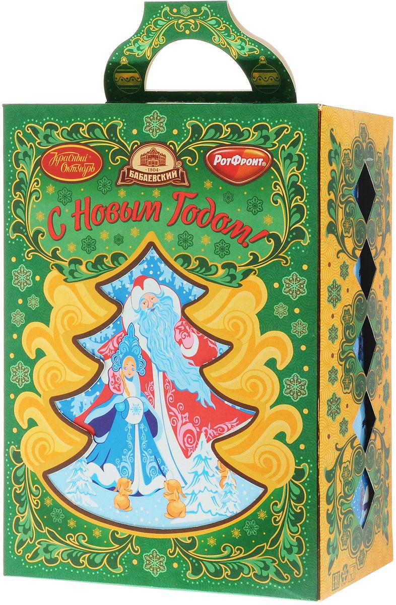 Рот-Фронт Новогодний подарок Елочка - зеленая иголочка, 403 гРФ17422Украсьте новогодний стол праздничной Елочкой. Эта крошка не только создаст настроение, но и порадует сладкими подарками. Состав набора: «Малиновый аромат» (2 шт) «Смородиновый аромат» (2 шт) «Клубника со сливками» (2 шт) «Малина со сливками» (2 шт) «Аленка» (1 шт) «Мятная» (1 шт) «Малютка» со вкусом мяты и вишни» (2 шт) «Кис-кис» (2 шт) «Золотой ключик» (2 шт) конфеты с шоколадной глазурью «Аланека» (1) «Красная шапочка» (1 шт) «Мишка косолапый» (1 шт) «Батончики «РОТ ФРОНТ» (1 шт) «Грильяжные» Воздушная нуга и мягкий грильяж» (1 шт) «Кара-Кум» (1 шт) «Цитрон» (1 шт) «Тоffe» Original (Тоффи Оригинальные) с начинкой (1 шт) «Коровка» Любимая» (1 шт) «Novella» (Новелла) с желе вкус Лесные ягоды» (1 шт) «Лебедушка» с начинкой «Мягкий ирис» (1 шт) «Птичье молоко» вкус Клубника со сливками» (1 шт) «Ешкина коровка» (1 шт) печенье сахарное...