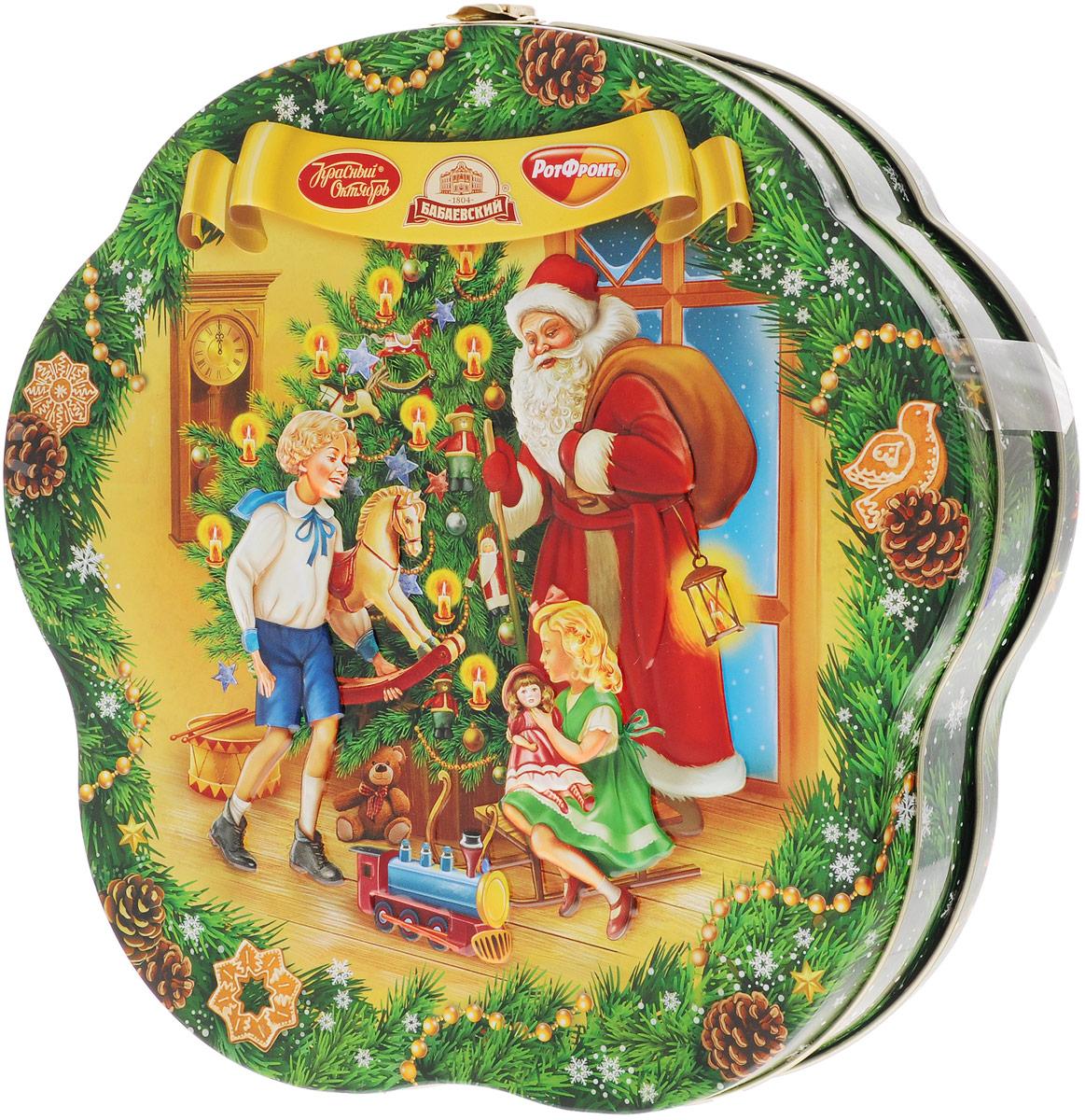 Рот-Фронт Новогодний подарок Праздничный, 1000 гРФ14503С новогодним подарком Рот-Фронт Праздничный ваш дом превратится в большую Новогоднюю сладкую сказку. Набор поставляется в красочной новогодней упаковке. Противопоказано при индивидуальной непереносимости белка молока и/или яичного белка. Состав набора: «Мечта» (3 шт) «Фея» (3 шт) «Дюшес» (2 шт) «Барбарис» (2 шт) «Мисс Ягодка со сливками» (3 шт) «Лимончики» (3 шт) «Гусиные лапки» (3шт) «Москвичка» (4 шт) «Бабаевская Белочка» (2 шт) «Петушок - золотой гребешок» (2 шт) «Маска» (2 шт) «Грильяж в шоколаде» (2 шт) «Красная шапочка» (1 шт) «Мишка косолапый» (3шт) «Коровка» вкус Топленое молоко (3 шт) «Огни Москвы» (2 шт) «Коровка» 30% молока (2 шт), «Цитрон» (2 шт) «Киви» (2 шт) «Батончики «РОТ ФРОНТ» (2 шт) «Славянский простор» (2 шт) «Трюфели» (2 шт) «Вафельные конфеты «Коровка» вкус Шоколад» (3 шт) «Вафельные конфеты...