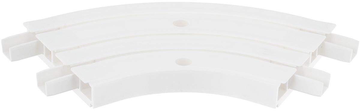 Закругление для потолочной шины Эскар, внутреннее, трехрядное, 120°21203Внутреннее закругление Эскар является дополнительным элементом карниза, которое служит для создания поворота потолочного профиля на 120°. Изделие обеспечивает удобство в использовании всей конструкции карниза. Оно изготавливается из высокопрочного и экологически безопасного пластика. Качественное сырье гарантирует прочность профиля и неизменный цвет на протяжении многих лет. Закругление имеет три ряда и предназначено для потолочного шинного карниза. Ширина закругления: 8,8 см. Высота закругления: 1,7 см.