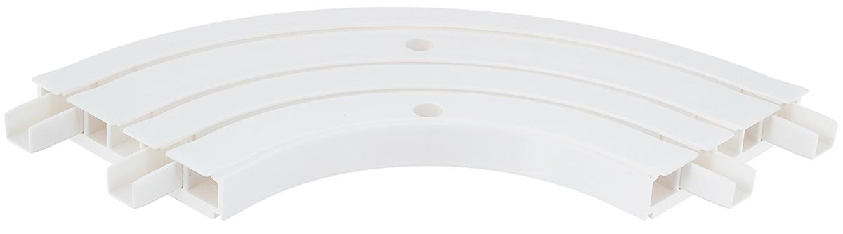 Закругление для потолочной шины Эскар, внутреннее, трехрядное, 90°20631Внутреннее закругление Эскар является дополнительным элементом карниза, которое служит для создания поворота потолочного профиля на 90°. Изделие обеспечивает удобство в использовании всей конструкции карниза. Оно изготавливается из высокопрочного и экологически безопасного пластика. Качественное сырье гарантирует прочность профиля и неизменный цвет на протяжении многих лет. Закругление имеет три ряда и предназначено для потолочного шинного карниза. Ширина закругления: 8,8 см. Высота закругления: 1,7 см.