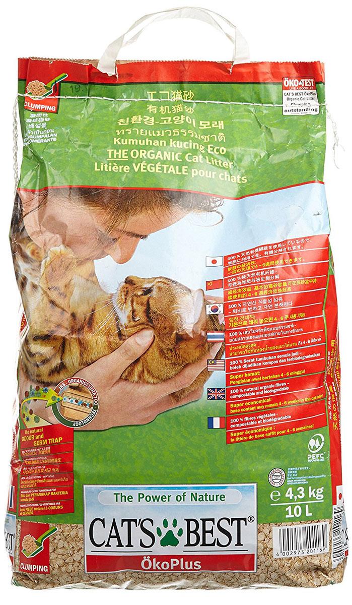 Cats Best Eko plus Наполнитель древесный комкующийся 10л*4,3кг12105Древесный комкующийся наполнитель, который можно выбрасывать в унитаз. Обладает исключительным запахопоглащением и впитываемостью в 700%